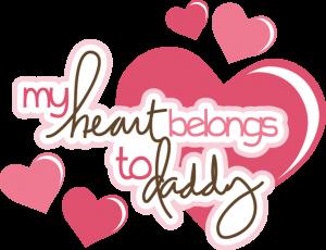My Heart Belongs To Daddy SVG scrapbook title svg files free svgs cute svg cuts free svg cuts