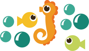 Seahorse and Fish SVG files ocean svg files for scrapbooking seahorse svg fish svg cute svg cuts