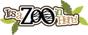 It's A Zoo In Here SVG scrapbook title zoo svg file zoo svg cut cute cut files for scrapbooking