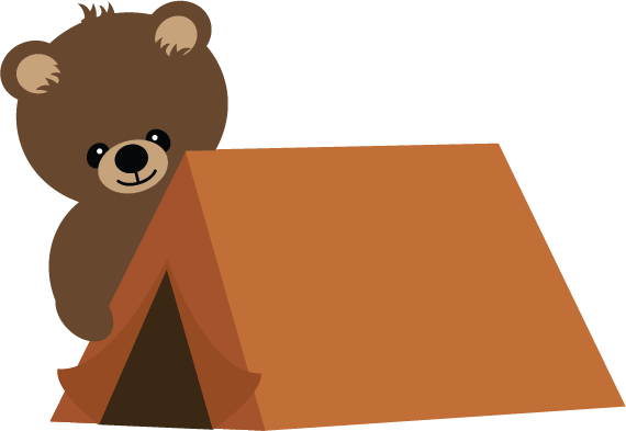 Bear With Tent SVG scrapbook file bear svg file camping svg file cute ...