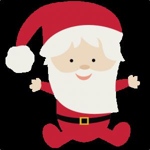 Baby Santa SVG file for scrapbooking christmas svgs santa svg cut file free svgs for scrapbookin cardmaking