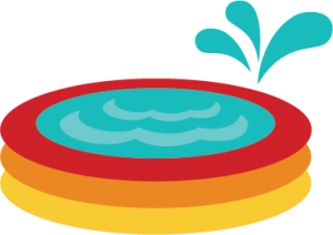 Kiddie Pool SVG file for scrapbooking svg files summer svg files cute svg cuts cut files for scrapbooks