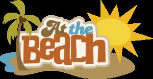 At The Beach SVG scrapbook title beach svg file beach svg cuts free svgs free cut files
