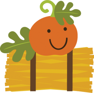 Pumpkin On Hay Bale SVG file for scrapbooking cardmaking pumpkin svg file pumpkin svg cuts
