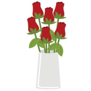 Roses In Vase SVG file for scrapbooking and cardmaking valentines day svg files free svgs