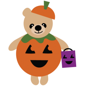 Bear In Pumpkin Costume SVG file for scrapbooking halloween svg files free svgs cute svg cuts
