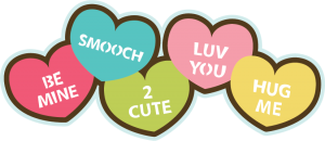 Candy Hearts SVG file for scrapbooking cardmaking valentine's day svg files cute svg cuts free svgs
