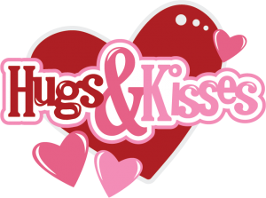 Hugs & Kisses SVG Scrapbook files svg files for scrapbooking svg cutting files for scrapbooks cute svg cuts