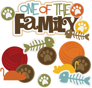 One Of The Family Cat SVG file for scrapbooking cat cut files for scrapbooks dog svg cuts free svgs