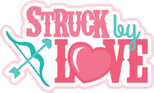 Struck By Love SVG scrapbook title valentines day svg files for cardmaking cute svg cuts free svgs