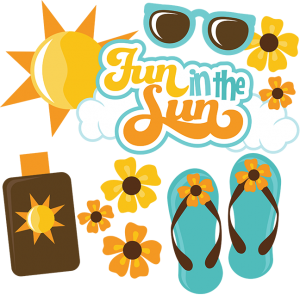 Fun In The Sun SVG scrapbook files summer svg files beach svgs files sunglasses svg files free svgs