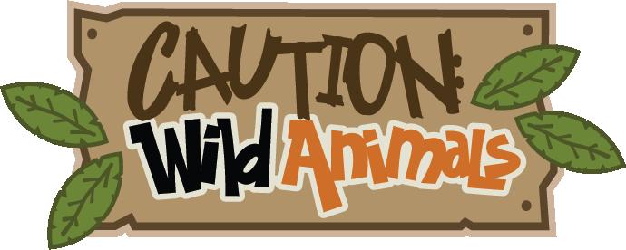 Caution Wild Animals Svg Scrapbook Title Zoo Svg Files