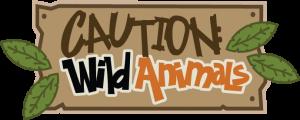 Caution: Wild Animals SVG scrapbook title zoo svg files zoo cut files zoo svg cut files free svgs