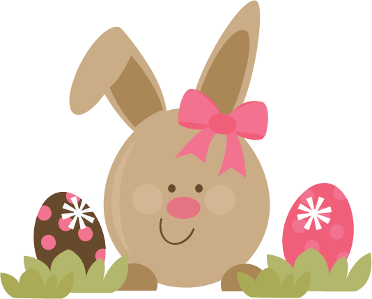 Cute Easter Bunny SVG file for scrapbooking cards free ...