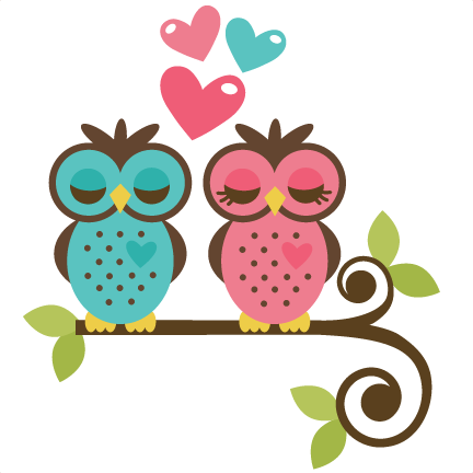 Owls In Love SVG file for scrapbooking and cardmaking owls ...