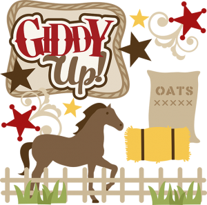 Giddy Up! SVG file for scrapbooking horse svg file svg files for scal cutting machines free svgs