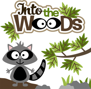 Into The Woods SVG files for scrapbooking camping svgs cute svg cuts raccoon svg file