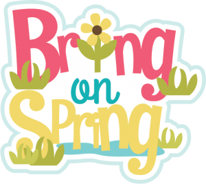 Bring On Spring SVG scrapbook title spring svg files spring svg cuts free svgs for scrapbooking