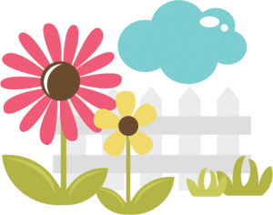 Flowers With Fence SVG file for scrapbooking cardmaking paper crafts free svgs cute svg cuts