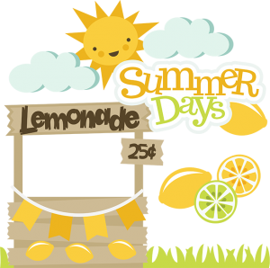 Summer Days SVG files lemonade stand svg file sun svg file lemon svg file cute svg cuts
