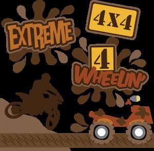 Extreme SVG files 4 wheelin' svg files dirt bike svg files 4 wheeler svgs free svgs cute svg cuts