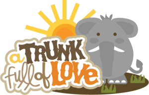 A Trunk Full Of Love SVG scrapbook title elephant svg file zoo svg files free svgs cute svg cuts