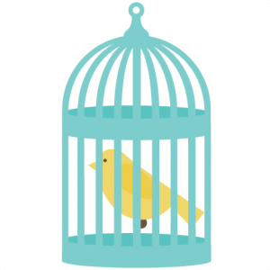 Bird In Bird Cage SVG files for cutting machines bird svg file birdcage svg file free svgs