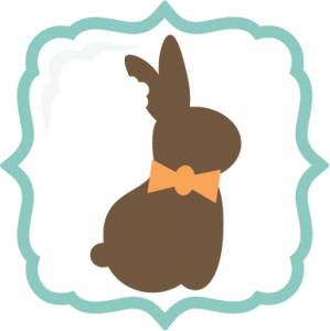 Chocolate Easter Bunny SVG file easter svgs frame svgs chocolate bunny svg files free svgs cute svg cuts