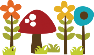 Flowers With Mushroom SVG file for scrapbooking cardmaking paper crafts free svgs cute svg cuts