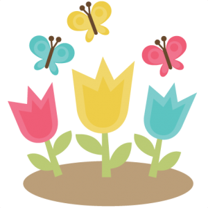 Tulips With Butterflies SVG files for scrapbooking cardmaking butterfly svg tulips svgs spring svgs free svgs