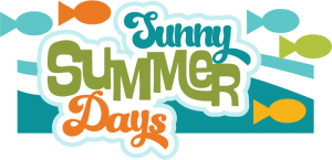 Sunny Summer Days SVG scrapbook title summer svg  fish svgs waves svgs free svgs cute svg cuts