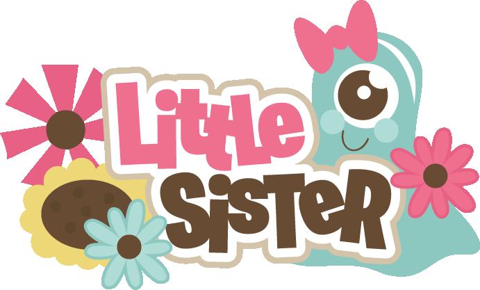 Little Sister Svg Scrapbook Title Brother Svg File Monster