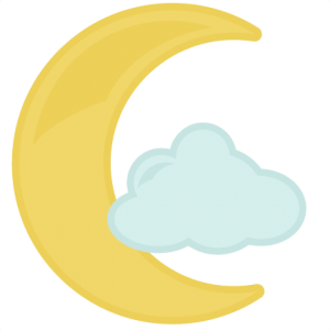 Moon With Cloud SVG file for cutting machines baby svg files baby svg cuts free svgs for cameo