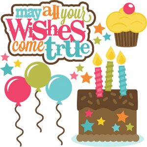 May All Your Wishes Come True SVG files for cutting machines birthday svgs birthday cake svg file free svgs
