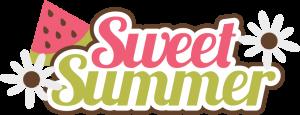 Sweet Summer SVG scrapbook title watermelon svg files free svgs free svg files cute svg cuts