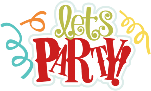 Let's Party SVG scrapbook title birthday svg files birthday svg cuts free svgs svg files for cutting machines