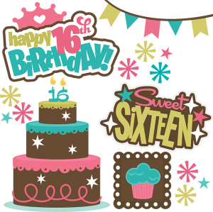 Happy 16th Birthday SVG files for cutting machines teen svg files teen birthday svgs 16th birthday svgs