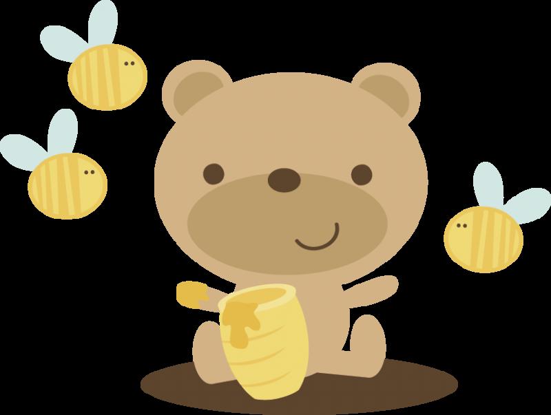 Bear With Honey Pot SVG scrapbook file bear svg file cute bear svg file cute ...