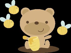 Bear With Honey Pot SVG scrapbook file bear svg file cute bear svg file cute svg cuts free svgs