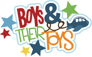 Boys & Their Toys SVG scrapbook title boys svg files svg files for paper crafting cardmaking free svgs