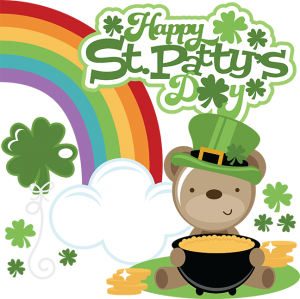 Happy St. Patty's Day SVG files for cutting machines st patrick's day svg files shamrock svgs cute bear svg file