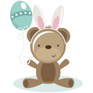 Bear With Bunny Ears SVG scrapbook file bear svg file cute bear svg file cute svg cuts free svgs