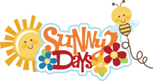 Sunny Days SVG scrapbook title sun svg file bee svg file flower svg file svg cut files for scrapbooking
