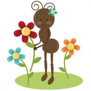 Cute Girl Ant SVG file for cards scrapbooking free svgs free svg files free svg cuts cute ant svg cut