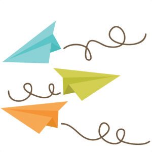 Paper Airplanes SVG files for cutting machines paper airplanes svg cut files for scrapbooking
