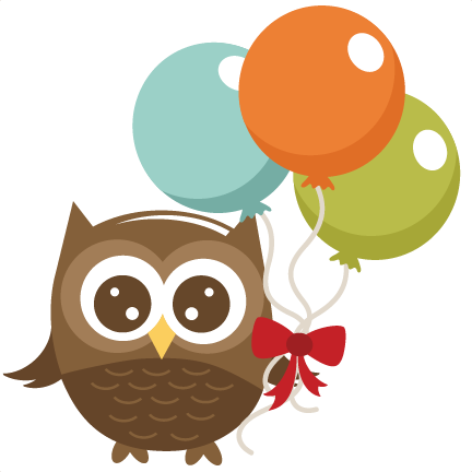 Owl Holding Balloons SVG file for cutting machines owl svg file for ...