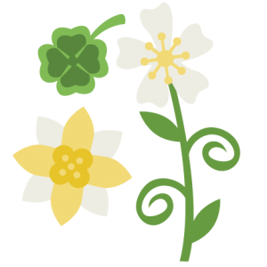 St. Patrick's Day Flowers SVG scrapbook title svg files svg cuts svg files for cutting machines free svgs