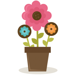 Flowers In Pot SVG cut file for scrapbooking flower free flower svg file free cut file for scrapbooking