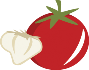 Tomato & Garlic SVG cutting file cooking svg files tomato svg file garlic svg file cute svg cut files