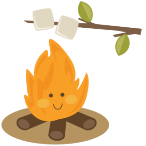 Cute Campfire SVG file for scrapbooking roasting marshmallows svg cut file for cutting machines